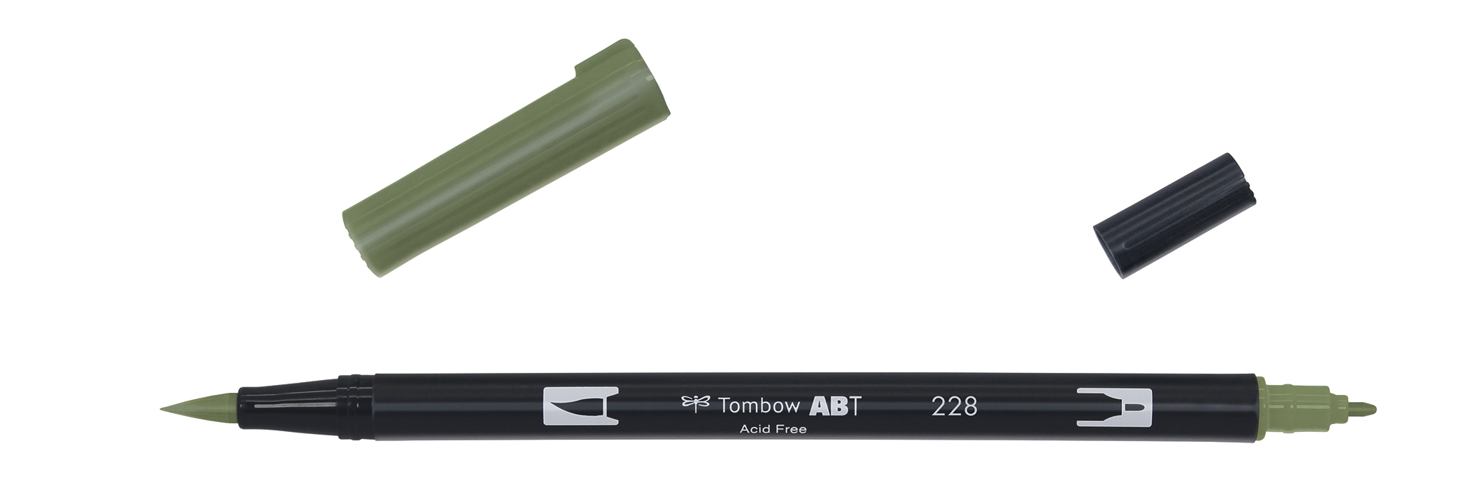 Image of   Marker Tombow ABT Dual Brush 228 grey green