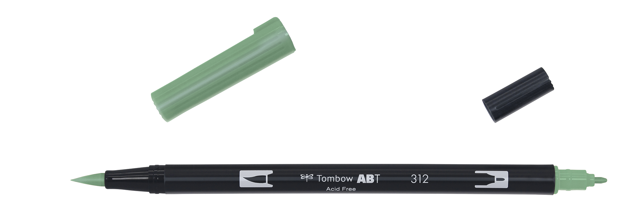 Image of   Marker Tombow ABT Dual Brush 312 holly green