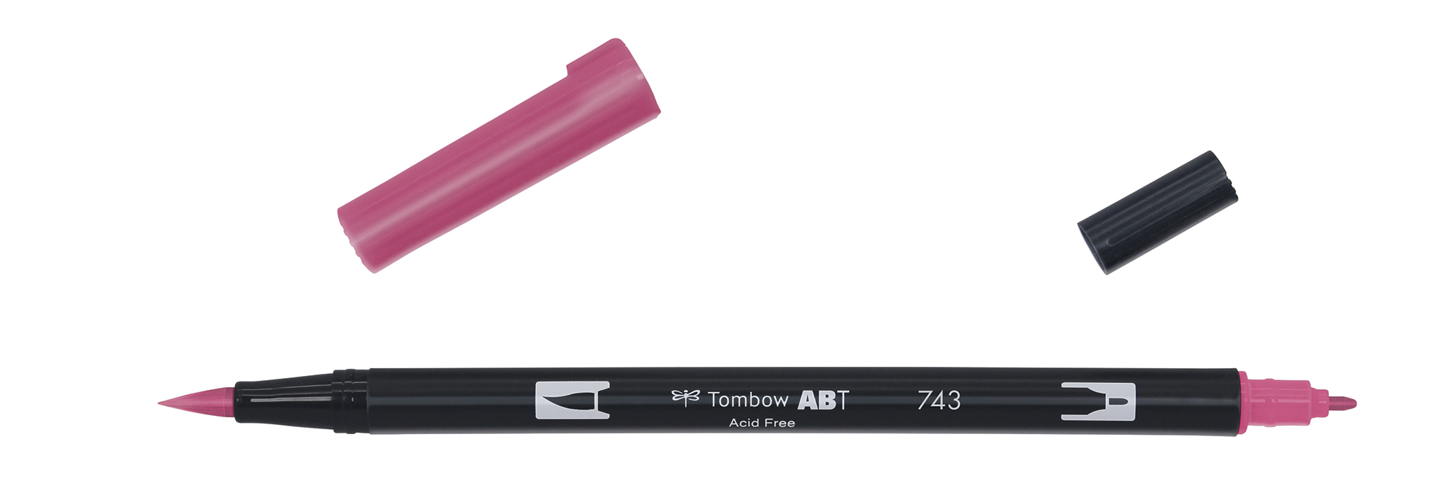 Image of   Marker Tombow ABT Dual Brush 743 hot pink