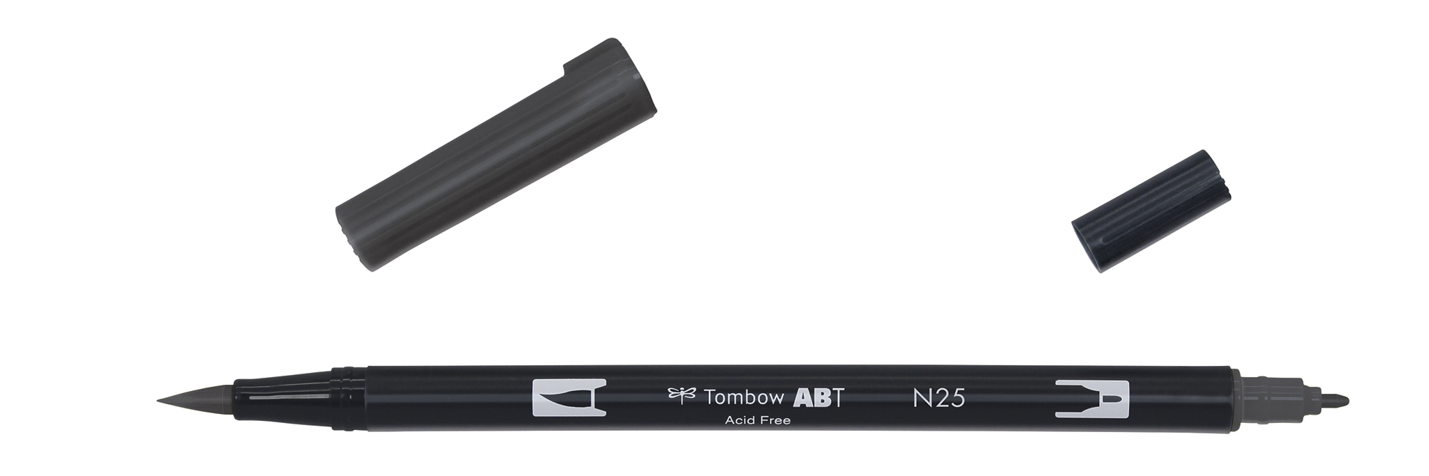 Image of   Marker Tombow ABT Dual Brush N25 lamp black