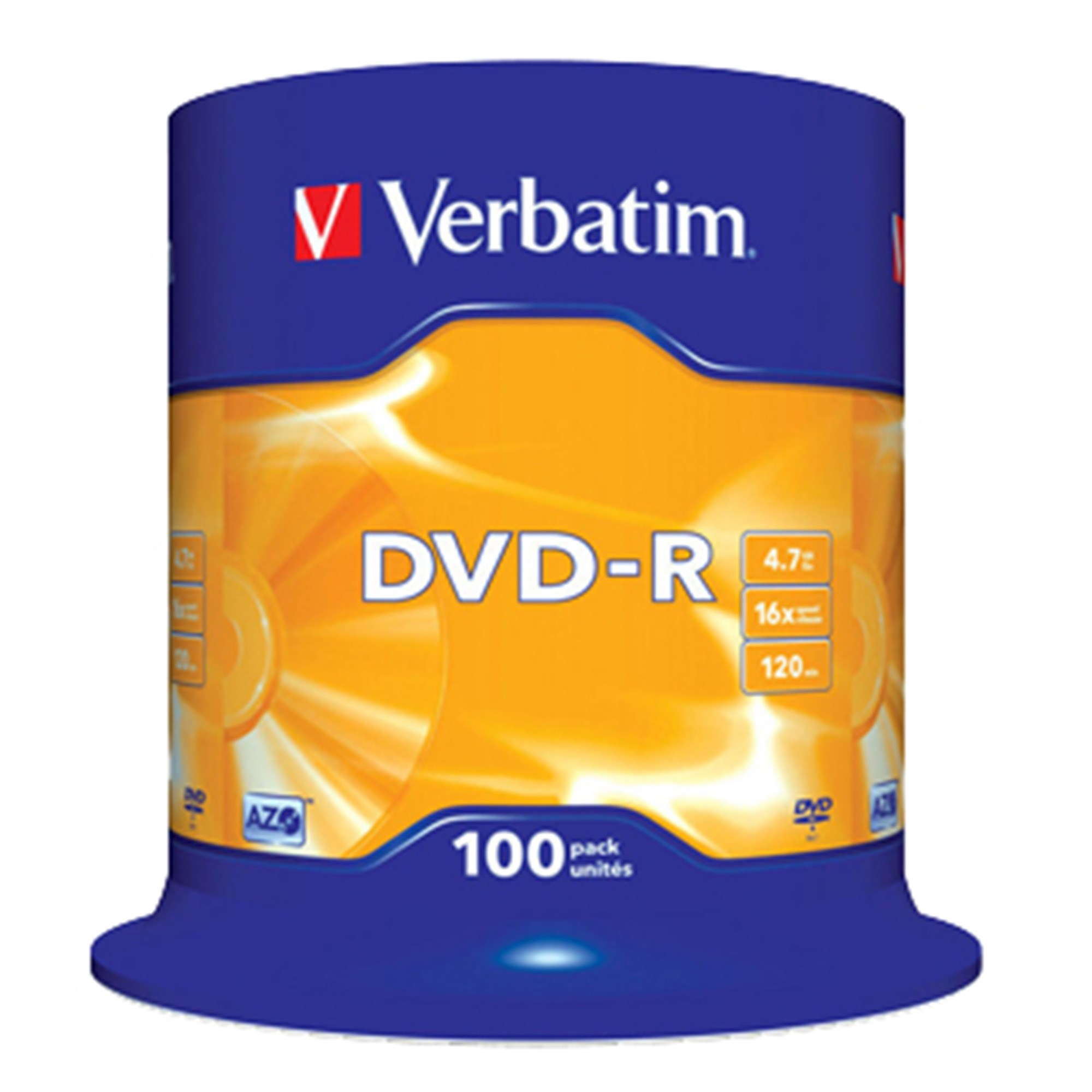 Image of   DVD-R 16x 4,7GB spindle, 100 stk
