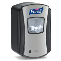 Purell Berøringsfri Dispenser til Hånddesinfektion, 700 ml. Sort/Krom