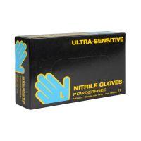 (Udsolgt) Boisen Safety, Engangshandsker Ultra Sensitive, Nitril, Sort, 100 stk.