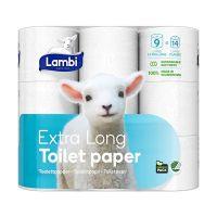 Lambi Extra Long, toiletpapir 3-lags, 24 ruller