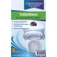 Cleanosan toiletrens tabs, 8 stk.