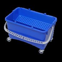 Drypspand med rist og hjul, 28 L