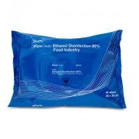 Udgår: Plum Ethanol Disinfection Wipe, desinfektionsklud til fødevareområder, 40 stk.