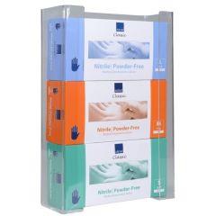 Abena handskestativ, transparent akryl, til 3 pakker engangshandsker