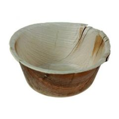 Skål, dyb, rund, palmeblad, bionedbrydelig, 500 ml, Ø142 mm, 25 stk.