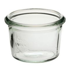 Patentglas Weck, u. låg, Ø6,8xH4,65 cm, 80 ml