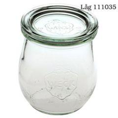 Patentglas Weck Tulip, u. låg, Ø7,18xH8 cm, 220 ml
