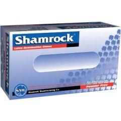 Shamrock, Enganghandske, Latex pudderfri, 100 stk.