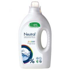 Neutral Color, flydende vaskemiddel, svanemærket, u. parfume og blegemiddel, 1250 ml.