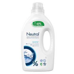 Neutral White, flydende vaskemiddel, svanemærket, u. parfume og blegemiddel, 1250 ml.