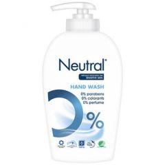 Neutral Handwash, cremesæbe i pumpeflaske,  Svanemærket og Astma Allergi godkendt, 250 ml.