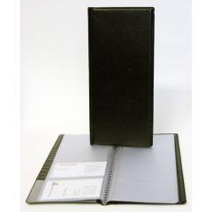 Visitkortmappe m/96 lommer sort