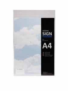 Skilteholder A4 t/væg