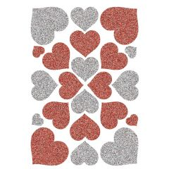 Herma stickers Magic hjerter rød+sølv (1)