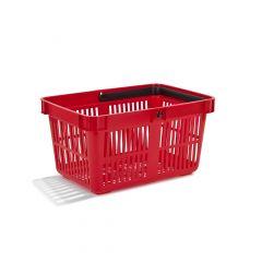 Indkøbskurv 27 liter, rød
