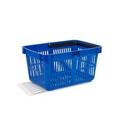 Indkøbskurv 27 liter, blå