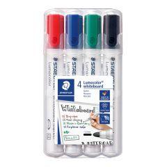 Staedtler Lumocolor, whiteboard tusser, 4 farver