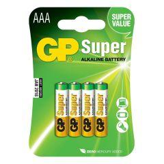 GP Super, batteri Alkaline, AAA, 4-pak