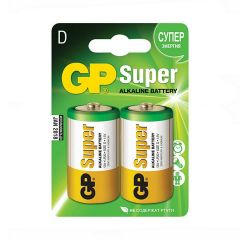 GP Super, batteri Alkaline, D, 2-pak