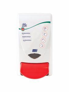 Deb Stoko Sanitise dispenser til desinficerende skum, i hvid plast m. rød trykknap, 1 L
