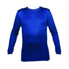 Thermawear termoundertrøje, blå, m. rund hals og lange ærmer, unisex