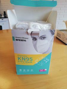 Beskyttelsesmaske FFP2/KN95, BFE95 % filtrering (ikke tilgængelig)