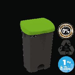 NRW pedalspand med grønt låg, bæredygtig, 25 L