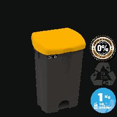 NRW pedalspand med gult låg, bæredygtig, 25 L