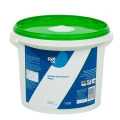PAL TX 200, desinfektionsserviet med triamin, alkoholfri, blå, 190x205 mm, 1000 stk.