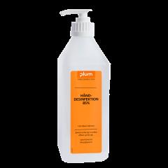 Plum hånddesinfektion i flydende-form, 85% ethanol i pumpeflaske 600 ml