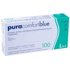 Pura Comfort Blue, Engangshandsker, Nitril, Blå, 100 stk.