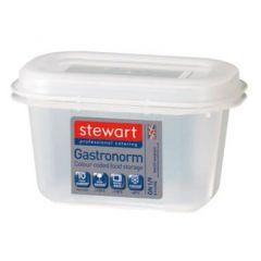 Stewart plastbeholder 1/9 GN, til fødevarer, inkl. låg, 0,9 L
