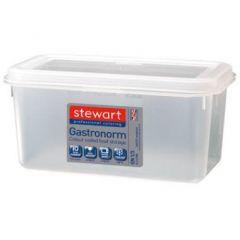 Stewart plastbeholder 1/3 GN, til fødevarer, inkl. låg, 5,7 L