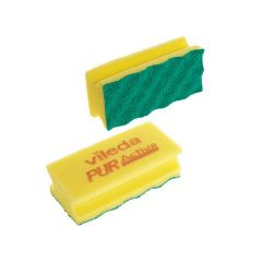 Vileda Pur Active, ridsefri rengøringssvamp, gul