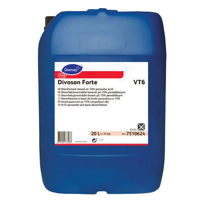 Image of   Divosan Forte VT6, højeffektivt desinfektionsmiddel, 20 L
