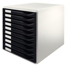 Billede af Leitz skuffekabinet, med 10 skuffer, til A4, sort