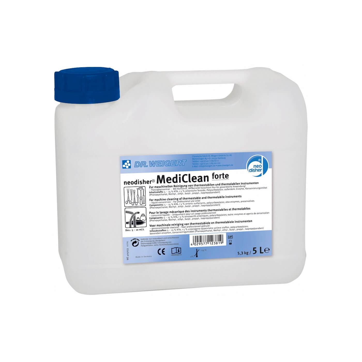 Image of Neodisher MediClean forte, rengøringsmiddel til rengøring af kiruigeske instrumenter, 5 l