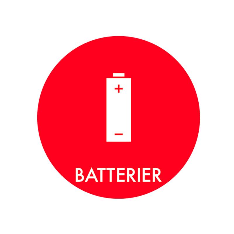 Image of   Piktogram til affaldssortering, Batterier