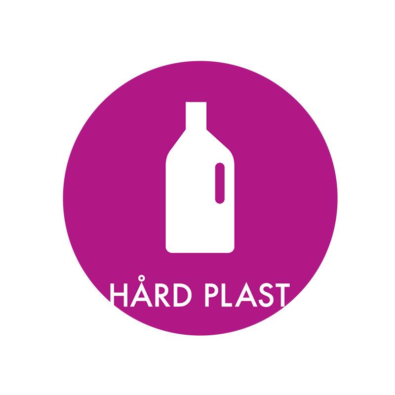 Image of   Piktogram til affaldssortering, Hård Plast