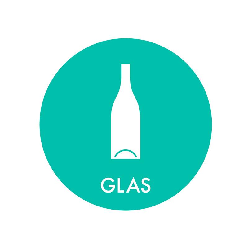 Image of   Piktogram til affaldssortering, Glas