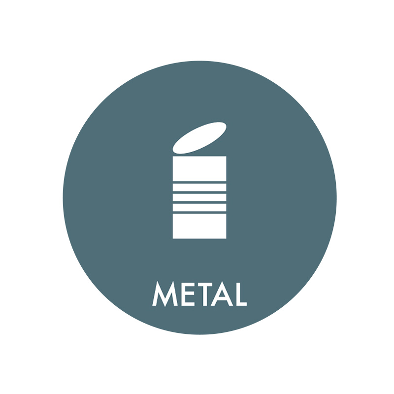 Image of   Piktogram til affaldssortering, Metal