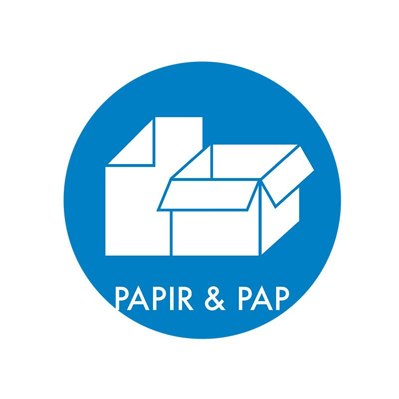 Image of   Piktogram til affaldssortering, Papir & Pap