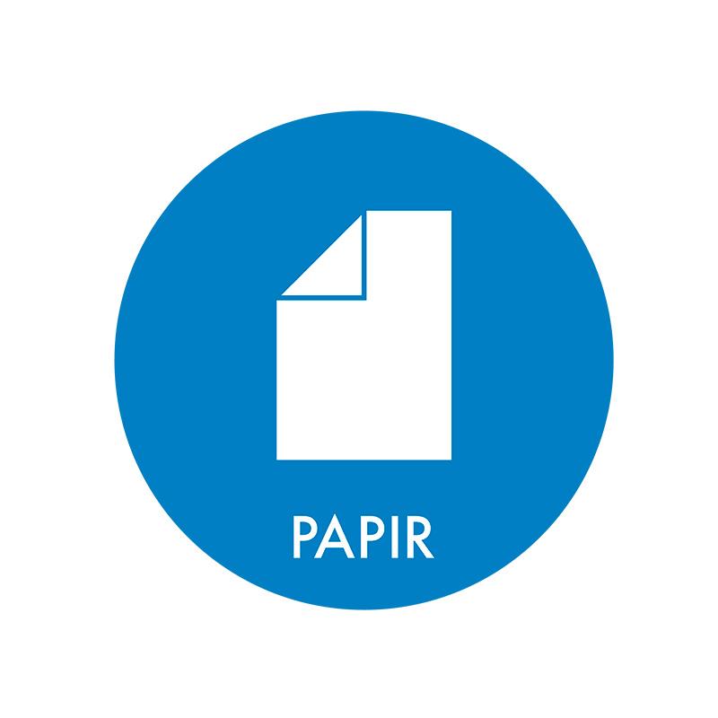 Image of   Piktogram til affaldssortering, Papir