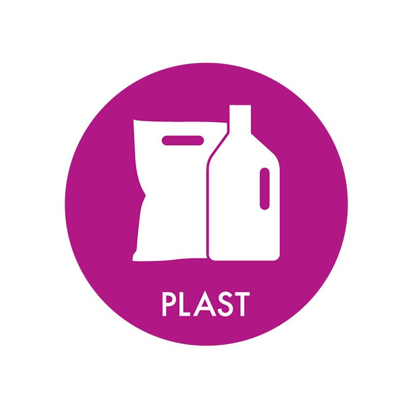 Image of   Piktogram til affaldssortering, Plast
