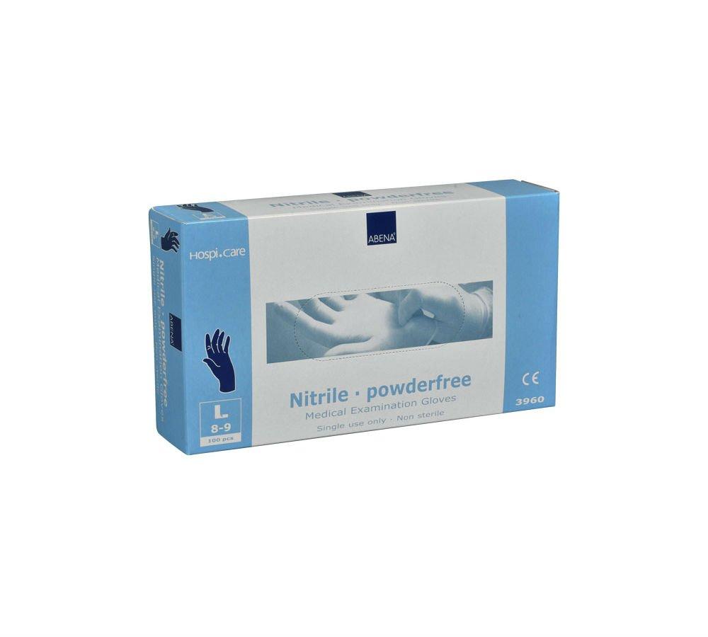 HospiCare Engangshandsker Nitril Blå 100 stk. | Large