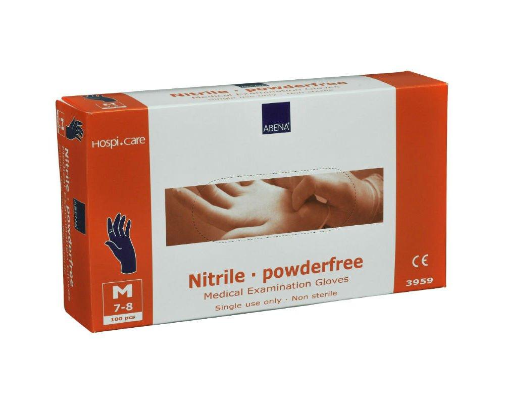 HospiCare Engangshandsker Nitril Blå 100 stk. | Medium